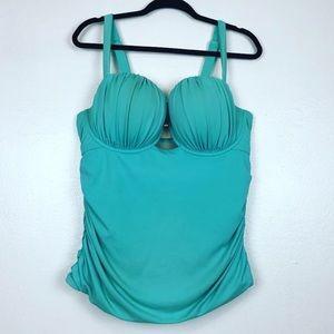Mermaid seashell bathing suit top(tankini) aqua